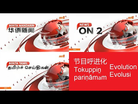 RTM Tv2/tv1 - Minority Language News Opening Evolution (1978-2019)