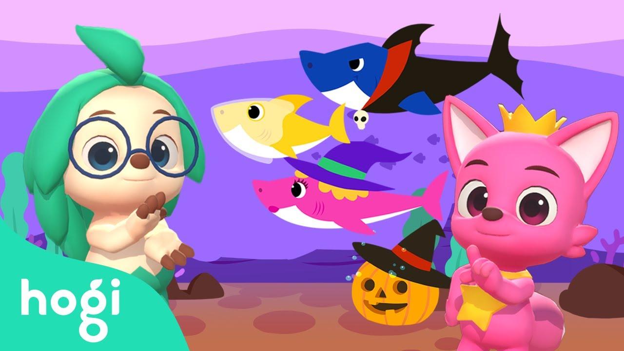 Halloween Sharks   Pinkfong & Hogi Dance Dance   Halloween Songs   Nursery Rhymes   Hogi Kids Songs