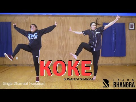 Sunanda Sharma - Koke (Karan Lamba mix) | Bhangra Dance Steps & Tutorials | Learn Bhangra