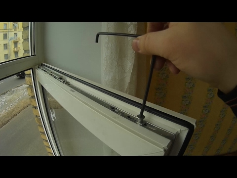 Регулировка пластиковых окон roto своими руками