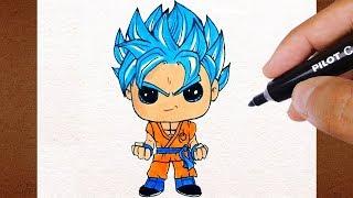 COMO Desenhar GOKU Super Saiyan Blue, Dragon Ball Super, COLORINDO DESENHOS FAMOSOS LINDO E FÁCIL