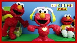 SESAME STREET LET'S DANCE ELMO MUSICAL KIDS TOY REVIEW - Elmo's World Song Learning Fun