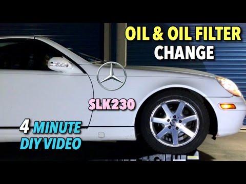 Mercedes SLK230 Oil and Oil Filter Change (Service A) 1996-2004 - 4 ...