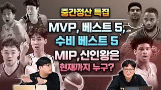 [이류농구 핫 이슈]  중간정산 특집. MVP, 베스트 5, 수비 베스트 5, MIP,신인왕은 현재까지 누구?
