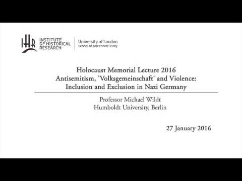 Antisemitism, 'Volksgemeinschaft' and Violence: Inclusion and Exclusion in Nazi Germany