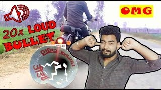 Royal Enfiled Loudest Exhaust || Experiment with Royal Enfield Bullet || Royal Enfield 350cc