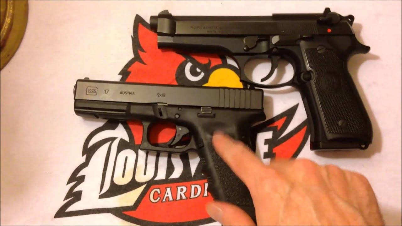 Glock17 vs Beretta92fs