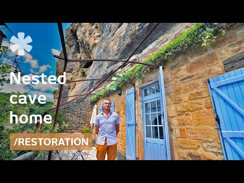 Cliff Home: carved on rock, perches over medieval village