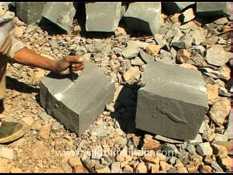 Stone Cutting In Nagaland India Youtube