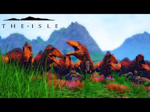 The Isle - ACROCANTHOSAURUS ARMY & REX PROGRESSION + REX SLAUGHTERING ( Early Accces Gameplay )
