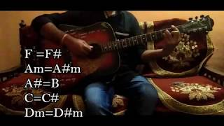 """Chashni Song""/""Bharat Movie""/Easy Guitar Chords/Full Song Lesson/Tutorial/Guitar Cover/Salman Khan"