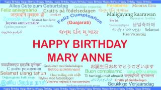MaryAnne   Languages Idiomas - Happy Birthday