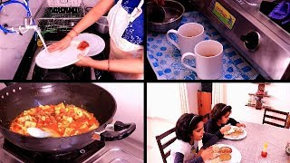 INDIAN EVENING TO NIGHT ROUTINE | KITCHEN CLEANING, EVENING TEA, INDIAN DINNER PREPARATION