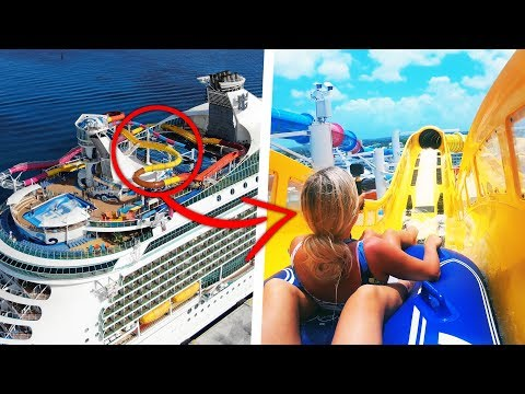 CRAZY WATERSLIDES On A Cruise Ship!