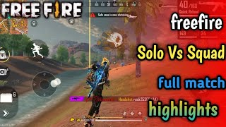 Solo Vs Squad full match highlights || Ranked Mode || freefire || GURU GAMING