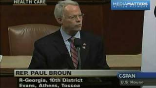 "Rep. Broun Calls The Civil War ""The Great War Of Yankee Aggression"""