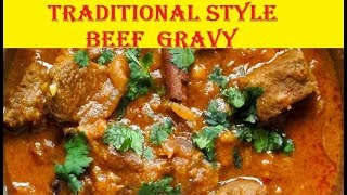 Beef gravy in tamil | tasty traditional beef gravy in coastal style