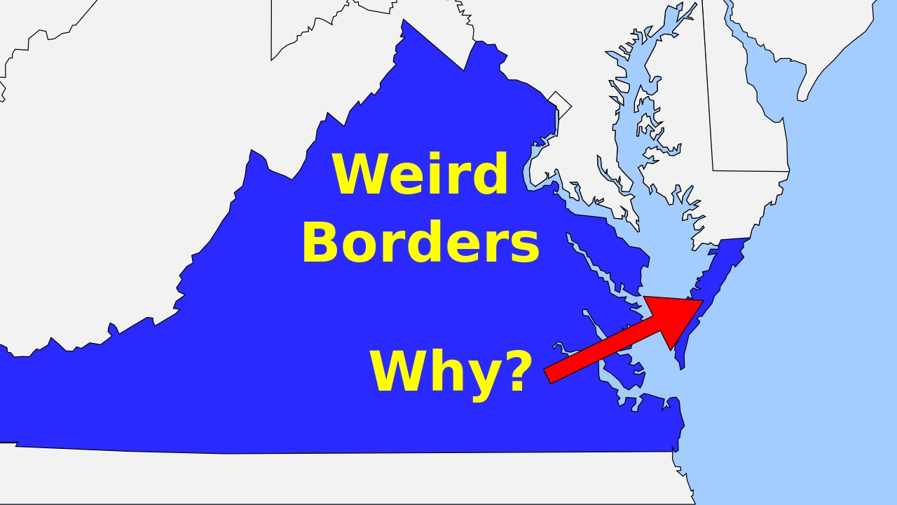 Weird Borders State Borders Of The United States Of America YouTube - Weird maps of the us
