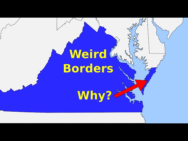 Weird Borders: State Borders of the United States of America