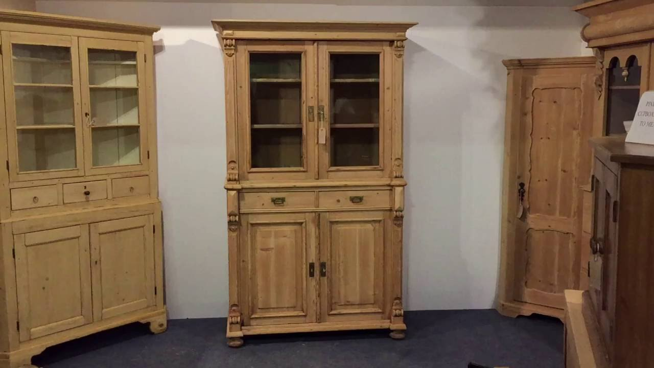 Large Part Glazed Antique Cabinet Pinefinders Old Pine Furniture Warehouse