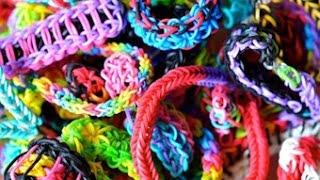 Мои браслеты и фигурки из резиночек)