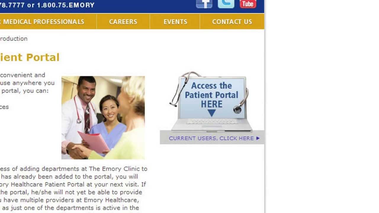 www emoryhealthcare org patientportal