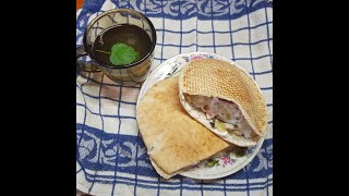 Овощная шаверма (шаурма) в лепешке-пите