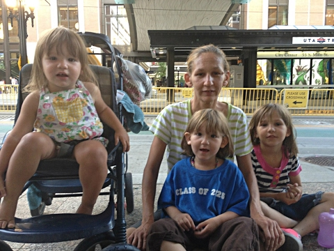 Shanni and her children live in a homeless shelter in Salt Lake City, Utah.