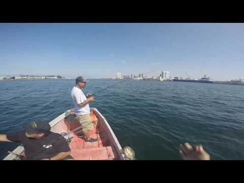 THE WAVES ALMOST TOOK US OUT!!!: SKIFFIN' SAN DIEGO BAY!