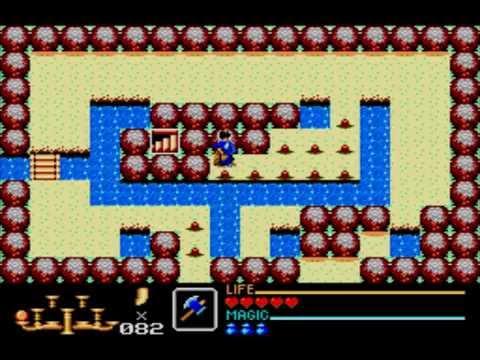 Golden Axe Warrior (1991, SMS) (2): Learning the Thunder Magic ...