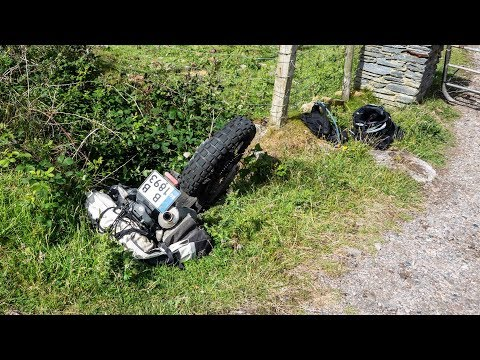 Motorcycle Trip to Ireland & Scotland - Amazing North and How I ended into the ditch? - Part 14