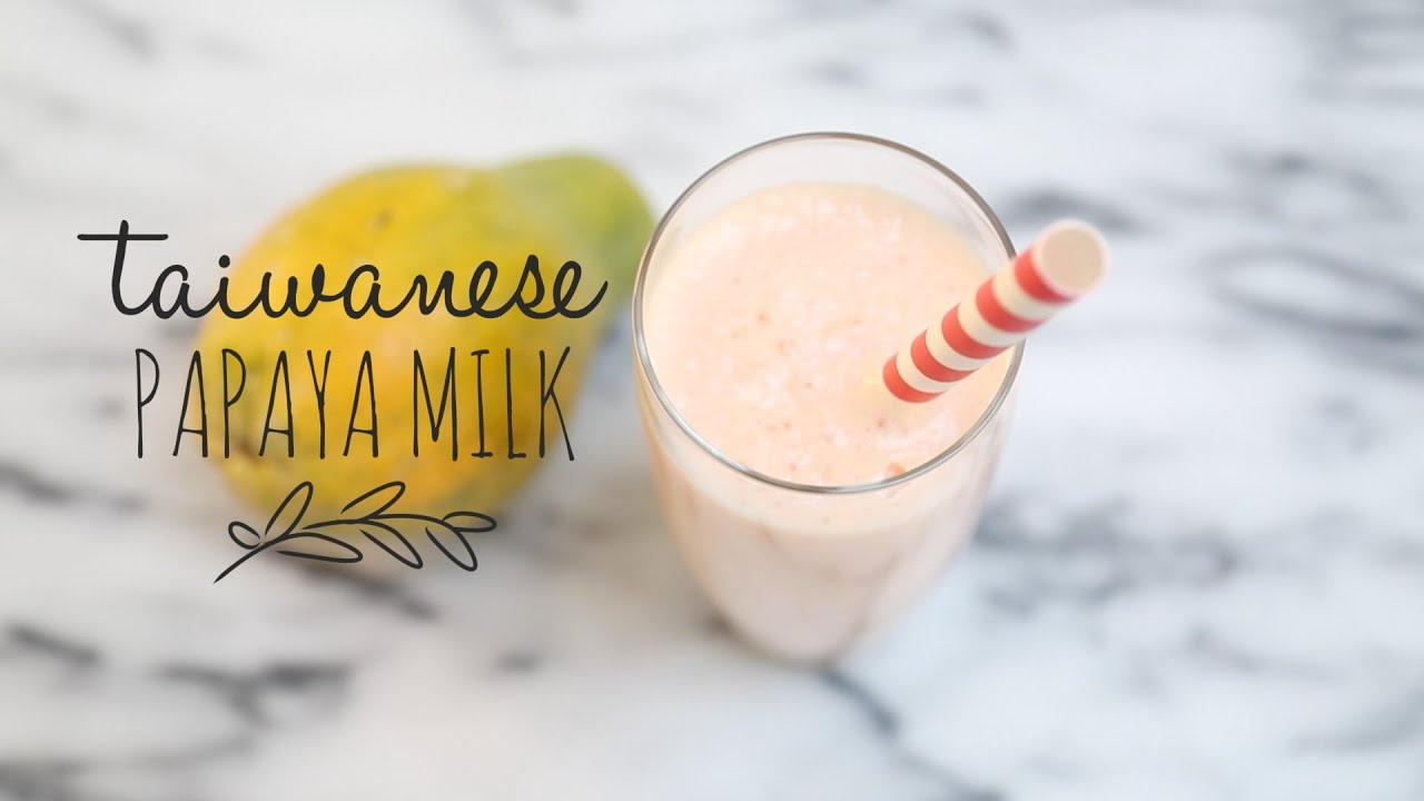 Easy Papaya Milk Smoothie Recipe | Taiwanese Style