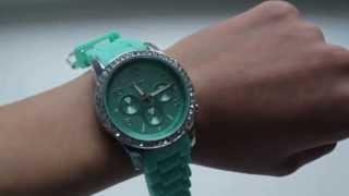 Модные мятные часы / Посылка из Китая / Обзор