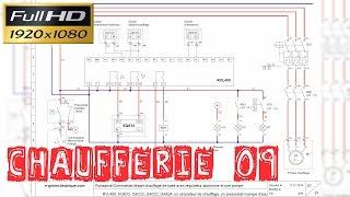 Chaufferie09-Schéma électrique-Explications départ chauffage de base-RVL480-vanne 3 voies-les sondes