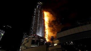 Großfeuer in Dubai: Feuerwerk soll trotzdem stattfinden