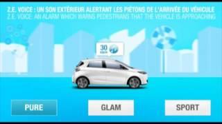 Renault Zoé Son extérieur alertant les piétons (Officiel)