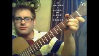 How to play Mr. Jones by Counting Crows on acoustic guitar (Made Easy)