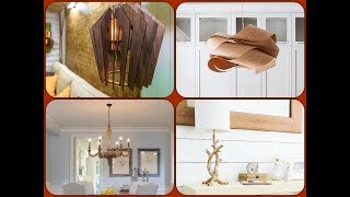 Wooden Lamp In Interior Of Your House. Ideas For Decor And DIY Inspiration!