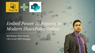 Embed Power BI Reports in Modern SharePoint Online