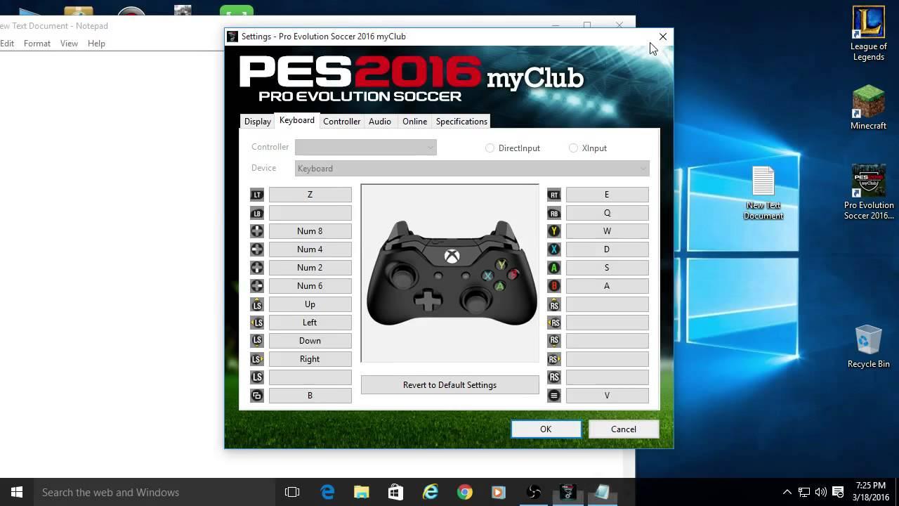 Pes 2016 keyboard controls