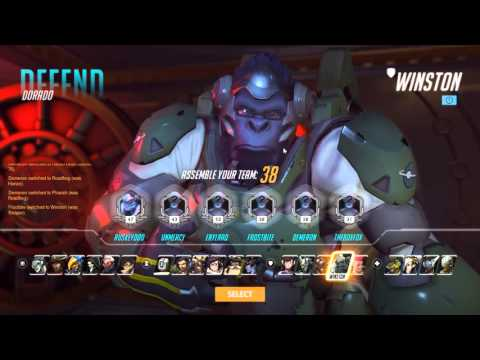 Overwatch - Reinhardt solo comp talk through 3 (things go badly)