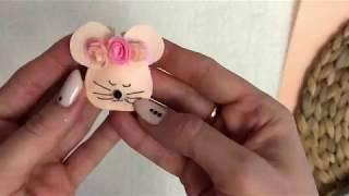 Мышки из фетра. 3 простых способа сделать заколки из фетра