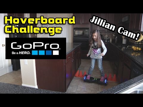 HOVERBOARD CHALLENGE Jillian CAM GoPro Angle!