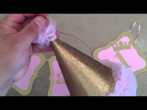 Pink and Gold Glitter birthday decor