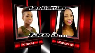 Khady vs Fallonne - Yeke Yeke (Les battles   The Voice Afrique francophone 2016)