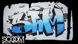 Graffiti SAM - How to draw graffiti names | By ScooM