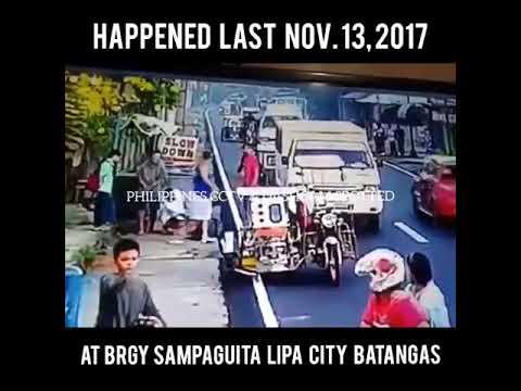 Babae nasagasaan sa Brgy. Sampaguita Lipa City Batangas November 13, 2017