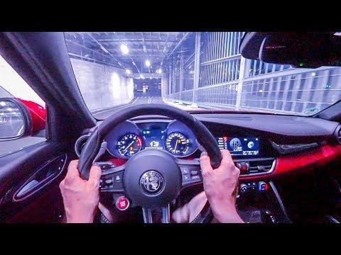 2019 Alfa Romeo Giulia Quadrifoglio (510PS) NIGHT POV DRIVE Onboard (60FPS)