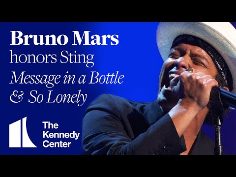 So Lonely, Message In a Bottle (Sting Tribute) - Bruno Mars - 2014 Kennedy Center Honors