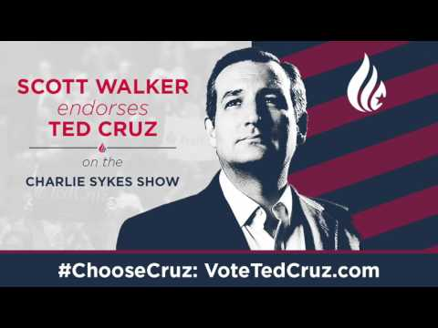 Gov  Scott Walker Endorses Ted Cruz for President | March 29, 2016